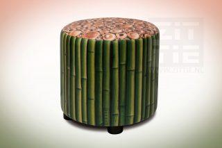 Hocker rond Bamboe