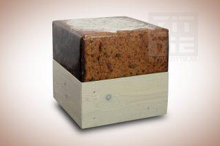 Wood hocker - Ontbijtkoek met boter