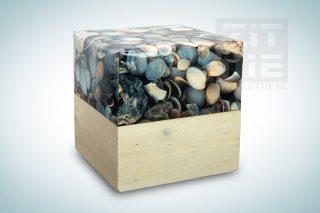 Hocker Wood - Schelpen donkergrijs