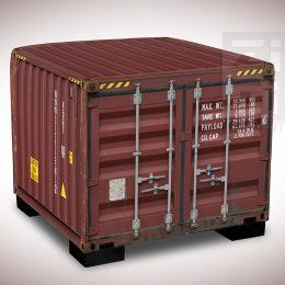 Hocker - Zeecontainer Rood