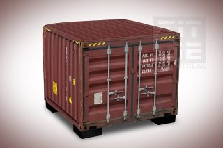 Hocker - Zeecontainer Rood