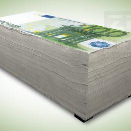Hockerbank - 100 euro biljetten stapel