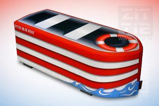 Hockerbank - Kleurrijke boot