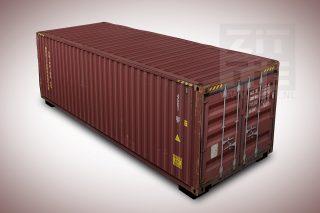 hockerbank - zeecontainer rood