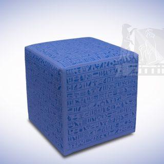 Zittie_Mini_Hocker_Blauw_Hierogliefen