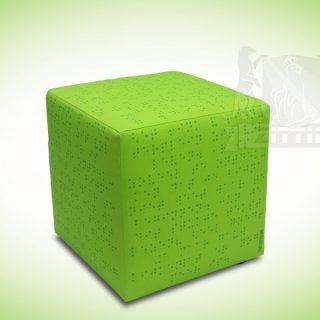 Zittie_Mini_Hocker_Groen_Braille